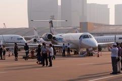 企业喷气机行  图库摄影