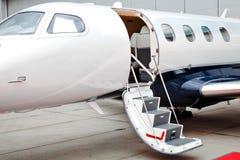 企业喷气机飞机 库存图片