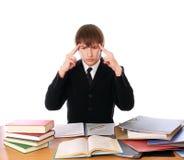 企业困难人认为的工作 免版税库存照片