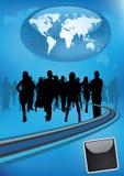 企业国际小组 皇族释放例证