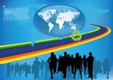企业国际小组 向量例证
