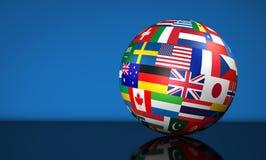 企业国际性组织地球 向量例证