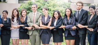 企业国际配合,一起团结配合概念 免版税库存照片