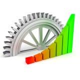 企业图和齿轮 免版税库存照片
