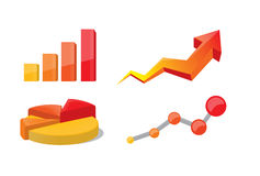 企业图形和图表 图库摄影