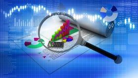 企业图形市场监控报表股票 库存照片