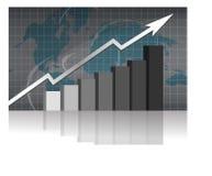 企业图形成功 免版税图库摄影