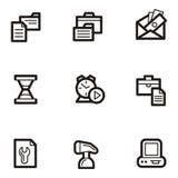 企业图标无格式系列 免版税库存照片