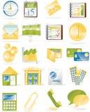 企业图标涉及的集合向量 免版税库存图片