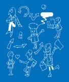 企业图标被设置的小组 库存图片