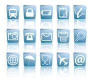 企业图标装箱旅行 免版税库存照片