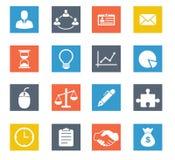 企业图标设置了 免版税库存图片
