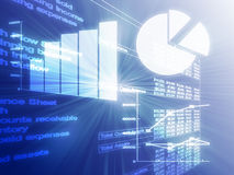 企业图表例证电子表格 向量例证