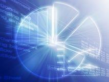 企业图表例证电子表格 免版税库存图片