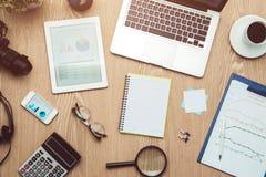 企业图表分析报告 应计额 图库摄影