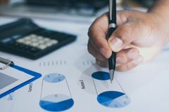 企业图表分析报告 应计额 库存照片