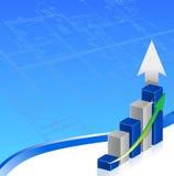 企业图表印刷品 免版税库存图片