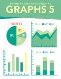 企业图表增加的图形增长赢利费率 免版税库存图片