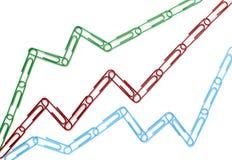 企业图表夹子财务座标图纸 免版税库存照片