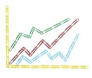 企业图表夹子财务座标图纸 库存图片