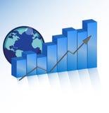 企业图表成功 库存照片
