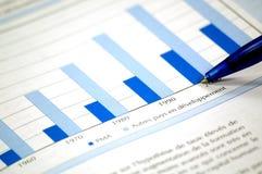 企业图表照片 免版税图库摄影