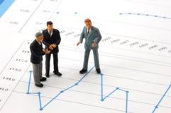 企业图表经济人 免版税图库摄影