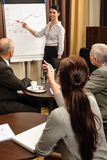 企业图表轻碰领导会合点妇女 免版税库存图片