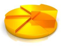 企业图表金黄饼来回成功白色 库存照片