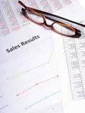 企业图表销售额 库存图片