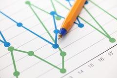 企业图表(线性图) 免版税图库摄影