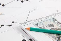 企业图画图表 免版税图库摄影