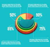 企业圆形统计图表 图库摄影