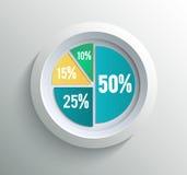 企业圆形统计图表 库存照片