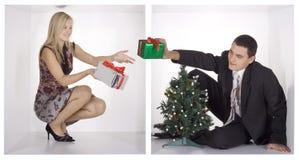 企业圣诞节多维数据集 免版税库存照片