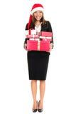 企业圣诞节礼品帽子圣诞老人妇女 库存图片