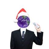 企业圣诞节通信全球主题 免版税库存图片