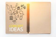 企业在剪影的概念和象图画预定 免版税库存图片