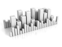 企业在白色背景的长条图图表 免版税库存图片