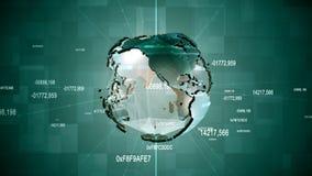 企业地球动画 股票视频