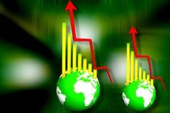 企业地球图形 免版税库存图片