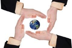 企业地球藏品人 免版税库存图片