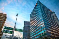 企业城市现代建筑学  Biljlmer竞技场阿姆斯特丹-荷兰 图库摄影