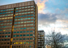 企业城市现代建筑学  Biljlmer竞技场阿姆斯特丹-荷兰 免版税库存照片