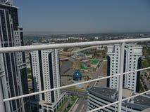 企业城市的全景 中心 城市Grozniy 资本是车臣 库存照片