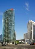 企业塔-波茨坦广场在柏林 免版税图库摄影