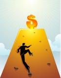 企业墙壁上升 免版税库存照片