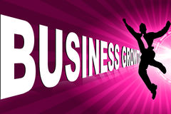 企业增长人字 图库摄影