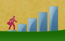 企业增长例证 免版税库存照片