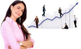 企业增长成功 免版税库存照片